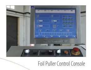 Foil Puller control console