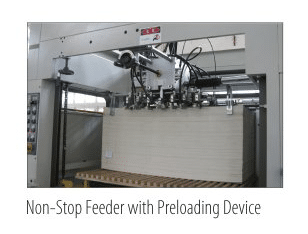 Non-Stop Feeder with Preloading Device