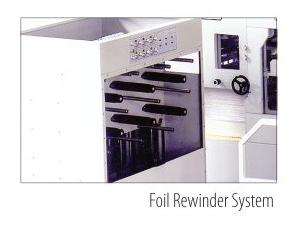 Foil rewinder system