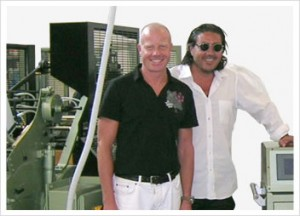 Pictured: Thomas Hippler (left), Designer and Massimiliano Tempestini (right), CEO, Gruppo Grafico Etichetta 2000