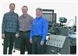 Pictured left to right: Tim Meihls, Kluge Central Region Sales Manager, Joe Metzger, President, METZGERS and Tom Metzger, CEO & COO, METZGERS