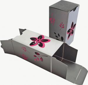 box with die cut flowers