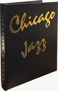 chicago jazz foil text