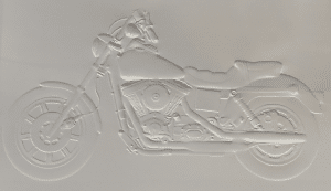 embossed motorcycle