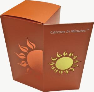 sun box with foil