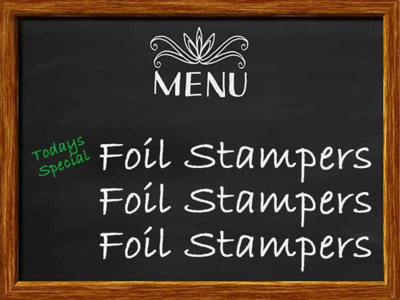 foil stampers